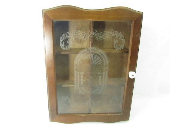 Curio Cabinet Wood Wall Cabinet Glass Door Cabinet Storage Etsy