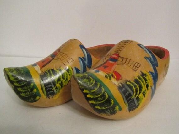 enorme sconto 2c187 11820 Olandese di legno scarpe, zoccoli olandesi, scarpe vintage, mulino a vento,  Olanda, scarpe da collezione, in legno
