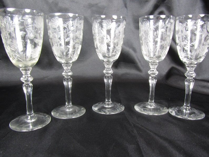 Etched cordial glasses | Etsy