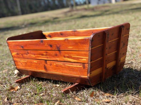 Vintage cradle, cedar wood cradle, baby furniture, vintage furniture,  handmade furniture, Farmhouse Decor, rustic, primitive furniture