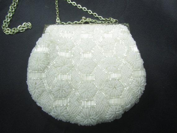 Vintage  purse, beaded purse, mesh purse, purse, w