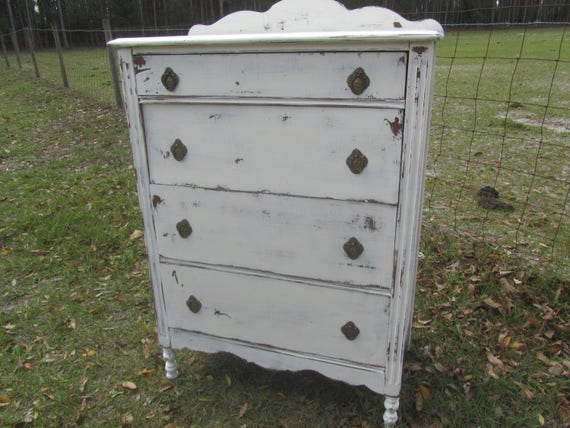 Ancienne Commode Commode Shabby Chic Shabby Chic Meubles Etsy