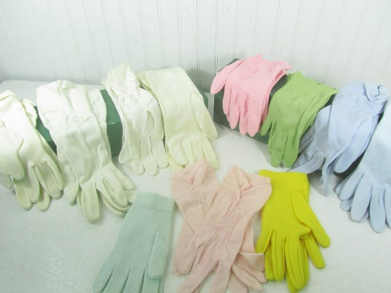 Vintage Womens Glove Collection, Set of Eleven Glo