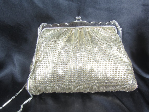 Vintage Whiting and Davis Purse, Vintage Gold Mesh