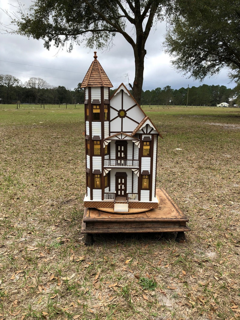 Vintage Doll House Victorian Doll House Toy House Toy Collectible Gift Little Girl Toy Tutor Style Home Three Story Doll House