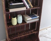 Distressed Pallet Wood Bookcase--Repurposed--Shabby Chic--Upcycled