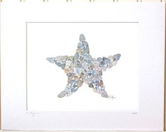 Starfish print, starfish wall art, starfish gifts, beach kids art, nautical nursery, starfish decor, beach house decor, nautical kids room
