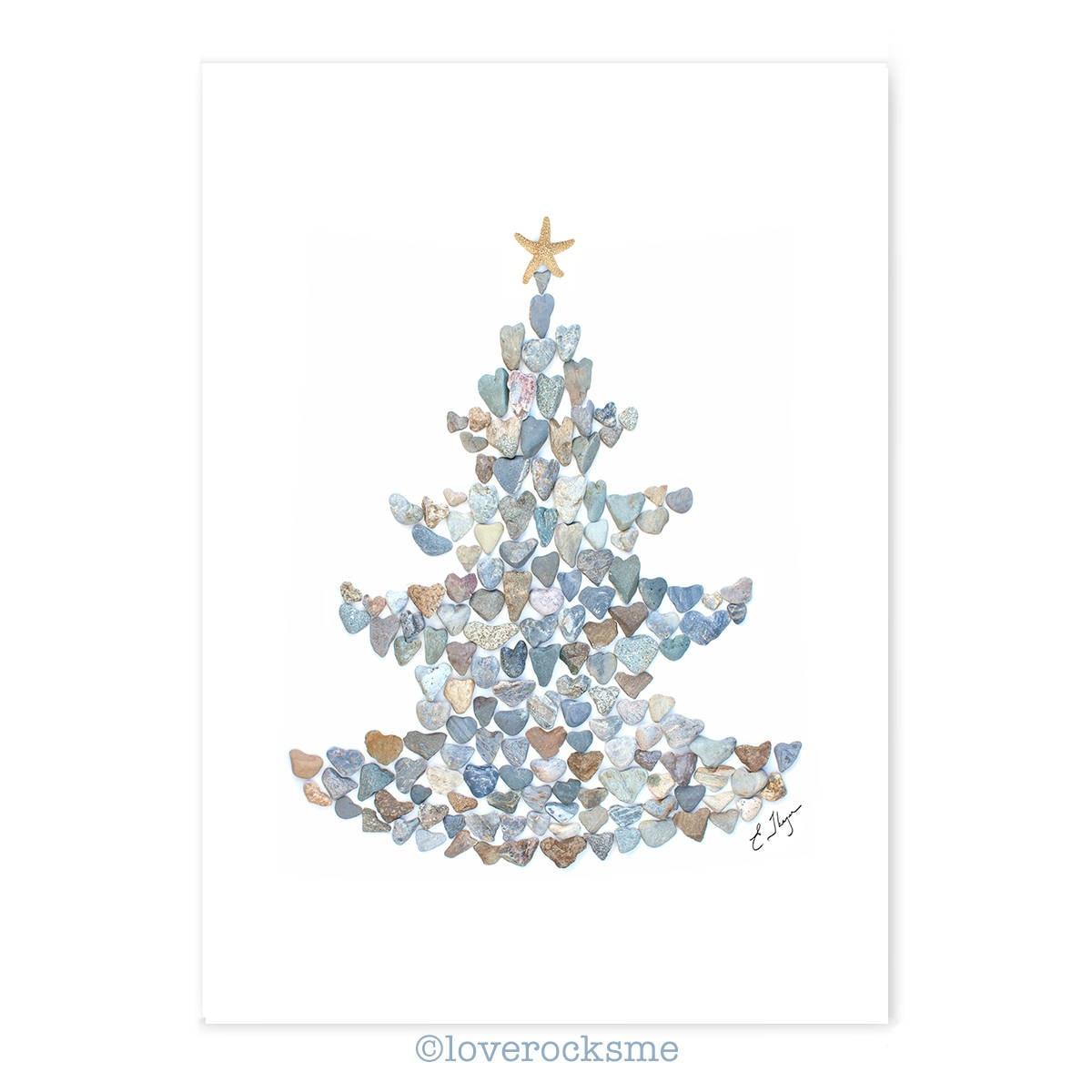 Christmas tree cards Christmas lovebeach themed Christmas   Etsy