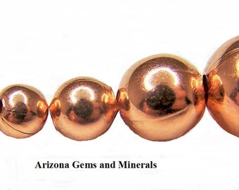 Real Copper Round Beads 2mm-3mm-4mm-5mm-6mm-8mm-9.5mm 100-200-500 Qty. FREE SHIPPING