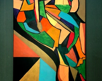 Colorful Abstract Painting Able Body - Tay Robin Art