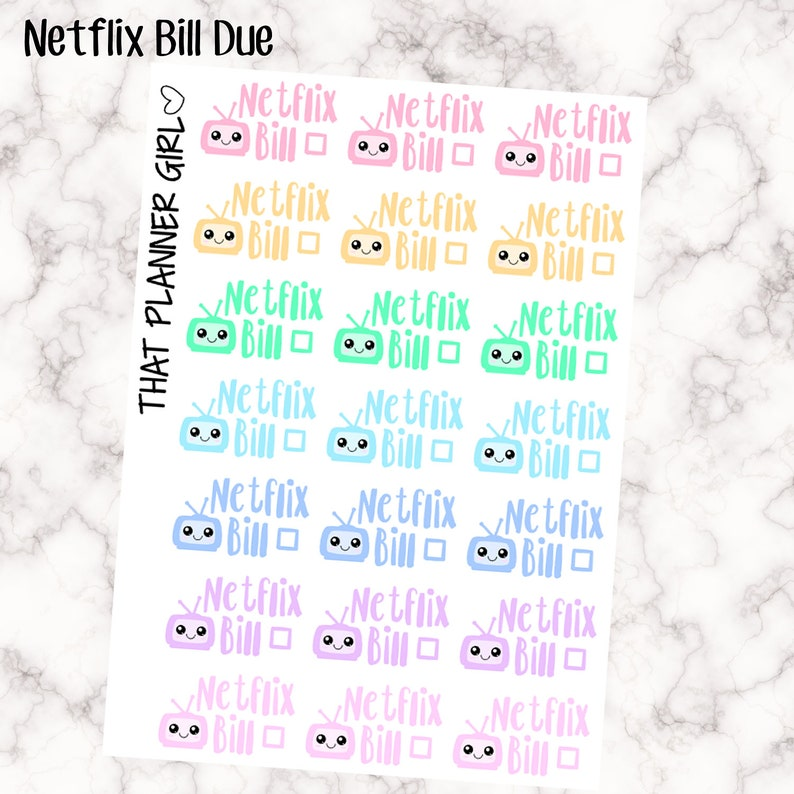 Netflix Bill Due Kawaii  Perfect for the Standard Life image 0