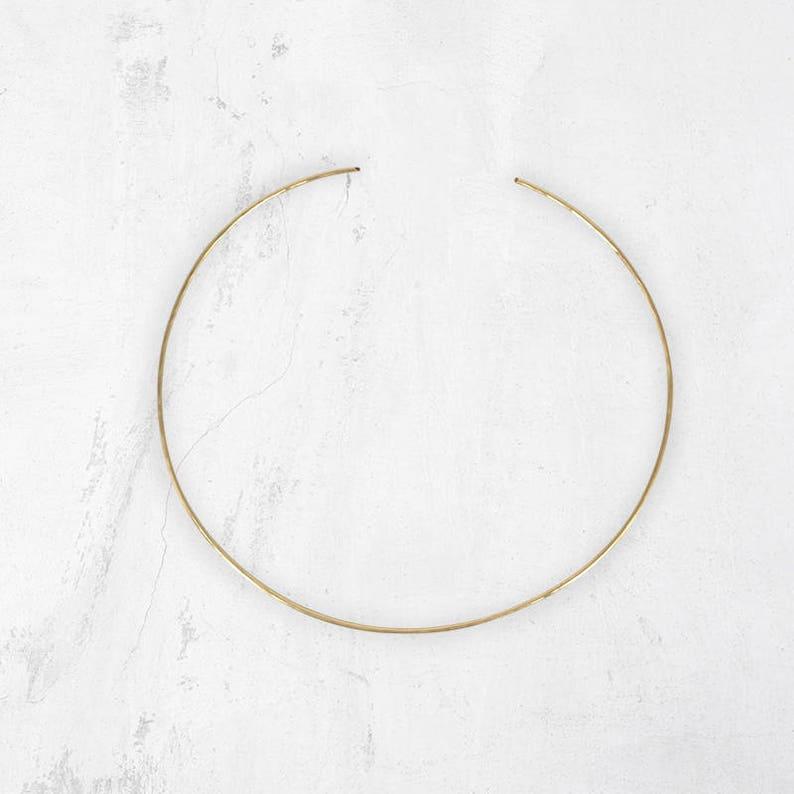 Minimal Metal Choker SHAA Metal Choker Open Choker Necklace