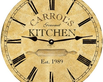kitchen clock personalized kitchen clock - Kitchen Clock