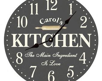 Kitchen Wall Clock Etsy