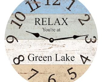 Lake Wall Clock Etsy