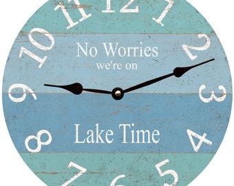 No Worries We're on Lake Time Clock