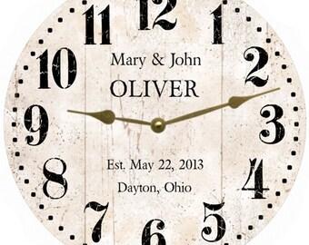 White Rustic Clock