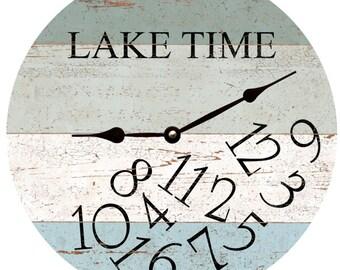 LAKE TIME Clock- Four Color Whatever Lake Time Clock