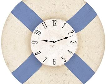 Life Preserver Wall Clock-Nautical Life Preserver Clock