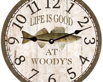 Walleye Clock- Personalized Walleye Clock