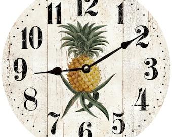 Rustic Pineapple Clock