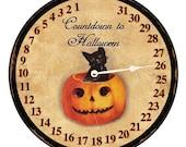 Countdown To Halloween Clock- Faux Clock