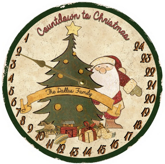 Countdown To Christmas Clock.Countdown To Christmas Clock Faux Clock Christmas Tree Clock