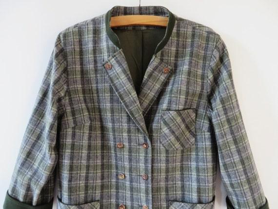 Lana giacca Loden donne Plaid bavarese cappotto giacca tedesca Trachten Blazer austriaco tirolese suoni tradizionali di musica Octoberfest grande