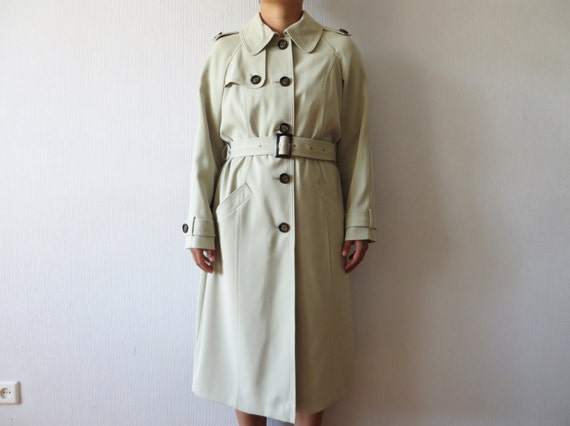 Light Beige Trench Classic TrencCoat Military Styl