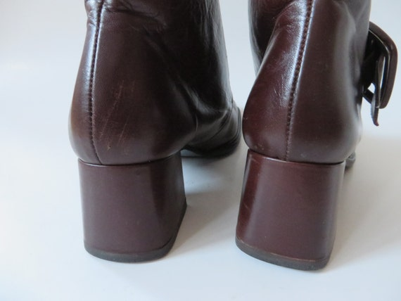 Toe Boots Brown Square 3 Leather Booties Women 37 EUR 5 6 UK Pixie 5 Boots Victorian Style US Ankle Booties 5 Ankle Boots Brown Women Boots vEwqSZvf