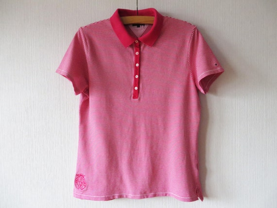 fef62d05164 Tommy Hilfiger Polo Shirt Women s Polo Shirt Pink Striped