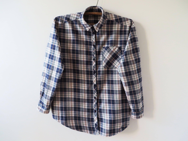 5039a255f51be Plaid Women Shirt Checked Shirt Cotton Women Shirt Grunge