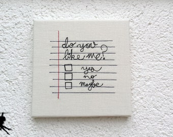 Do you like me? - Wall deco Wall art