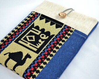 "iPad Mini 3 , Nexus 7 Case, Kobo mini, Kindle, iPad Mini Case, Apple iPad Mini Case, Custom 6"" or 7"" tablet sleeve , Kilim"