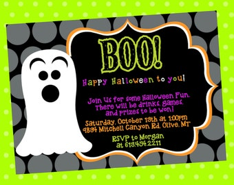 BOO Halloween Party Invitation