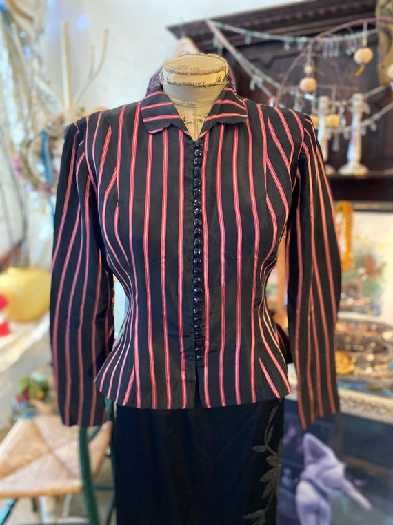 Lovely Early  40's Ceil Chapman  blouse, blazer - image 4