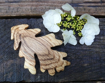 Unique gift for her, Oak Leaf Hair clip barrette, Oak Leaf jewelry, Hair pin slider, Nature lover gift, Earthy Girl, 80mm French barrette