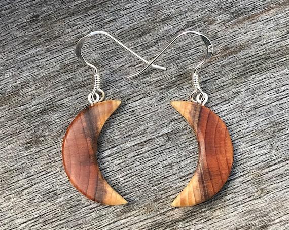 Moon Earrings, Crescent Moon