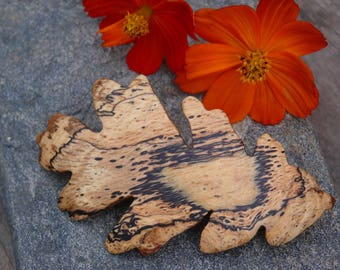 Autumn leaf hair barrette, Oak Leaf Hair clip, Autumn hair accessory, Gift for her, 5th anniversary, Fall Wedding, 80mm French barrette