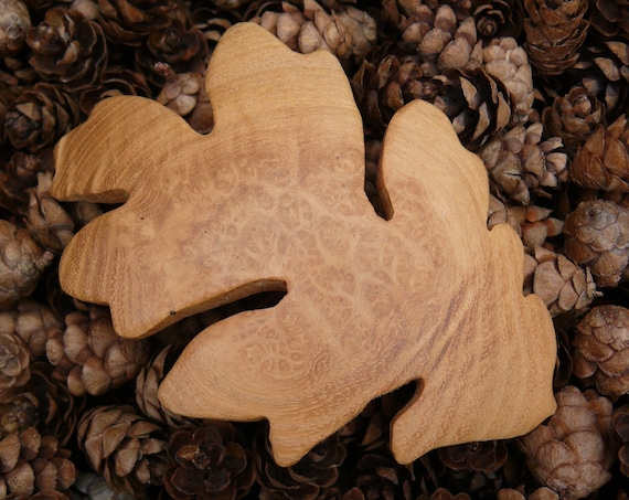 Oak leaf Hair Clip, 80mm French Clasp