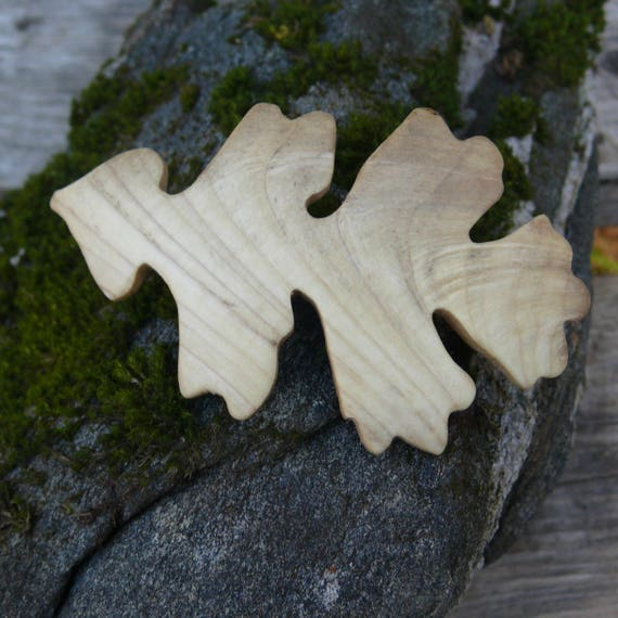 Oak Leaf hair clip , Oak leaf jewelry, Wood Hair slider, Nature Lover Gift, Coachella Wear, 70mm French barrette Clasp, Unique gift for her