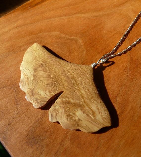 Gingko Leaf Necklace  Pendant, Ginkgo Leaf Necklace, Ginkgo Leaf Jewelry, Herbalist, herbal gift, Gift for her under 20