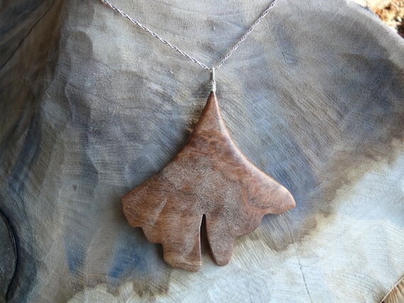 Gingko Leaf Necklace, Ginkgo Pendant Necklace, Ginkgo Leaf Jewelry, botany nerd gift, Nature lover gift, Herbalist gift, Gift under 20