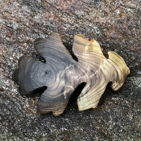 Oak Leaf Hair Clip, 50mm French Clasp