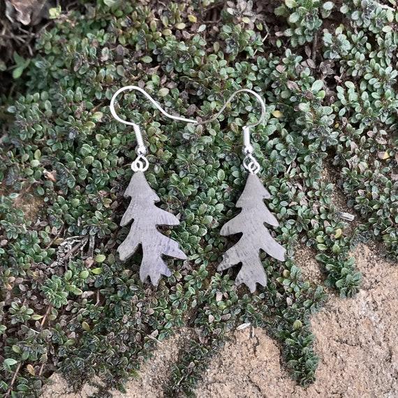 Oak Leaf earrings, Wood Earrings