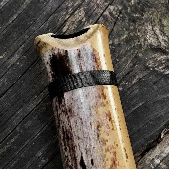 Shakuhachi Flute, 2.0 'C' Cast Bore Student Model, Bindings **end-blown flute,Japanese Flute,musical instrument,Zen bamboo flute,flute,yoga