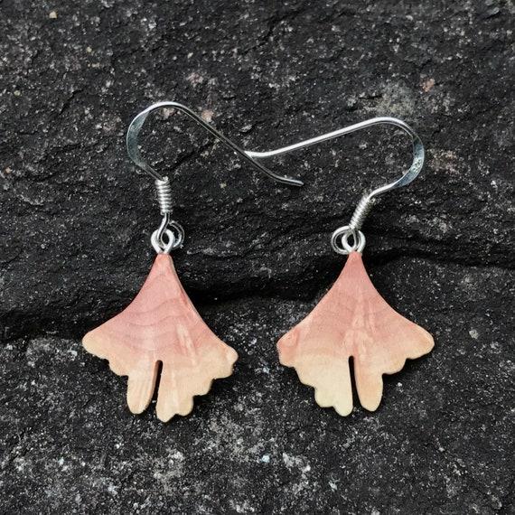 Small Ginkgo earrings, Itty Bitty Dangle earrings
