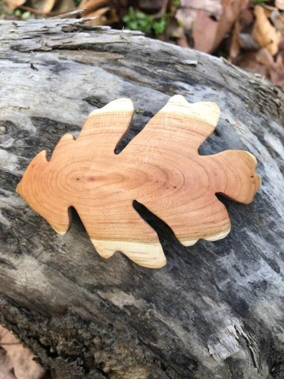 Oak Leaf hair Clip, 80mm French Clasp