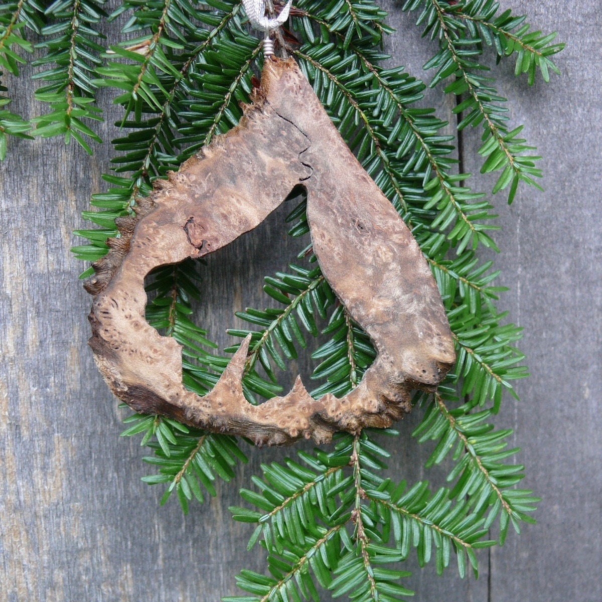 natural christmas tree ornament gingko leaf ornament natural wood ornament rustic holiday decor eco country christmas nature ornaments