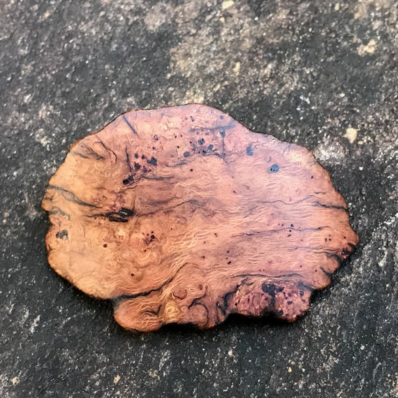 Burl Wood Hair Clip, 50mm French Clasp